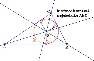 kružnice vepsaná trojúhelníku